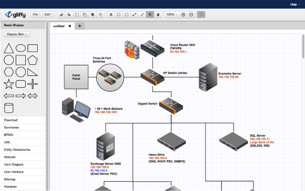 Gliffy Diagrams app