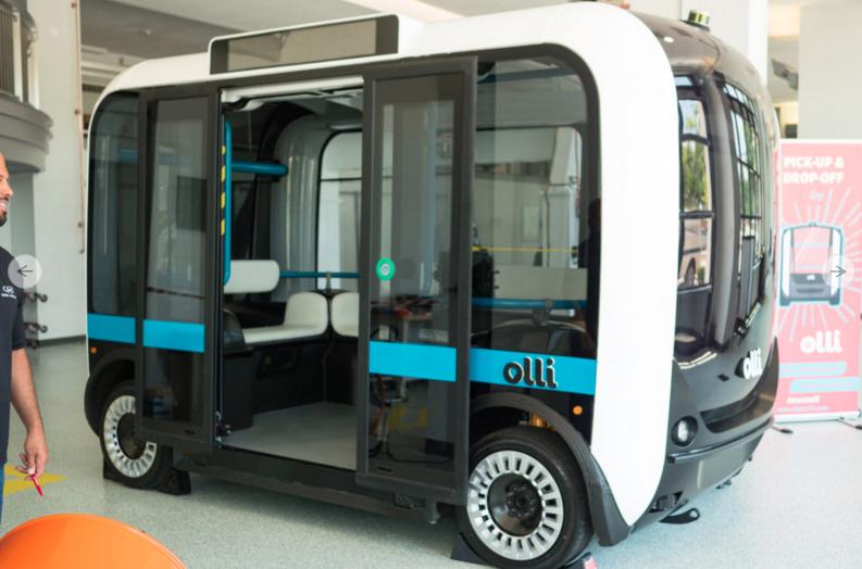 Local Motors 3D printed autonomous Olli