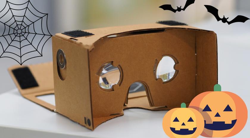 VR Google Cardboard Halloween