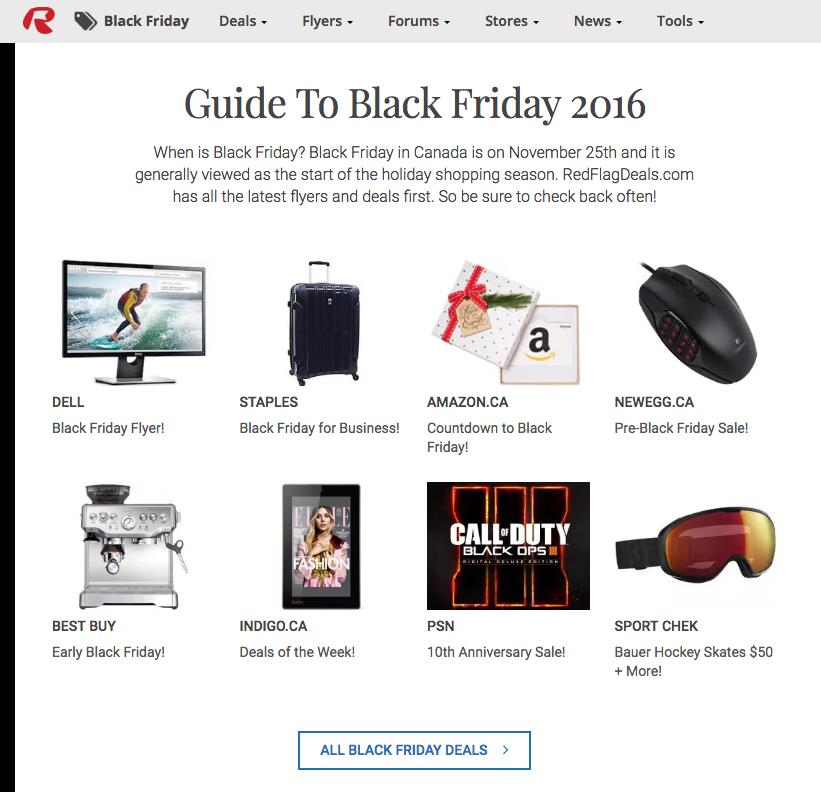 RedFlagDeals Canada Black Friday deals