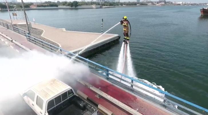 Dubai firefighter jetpack