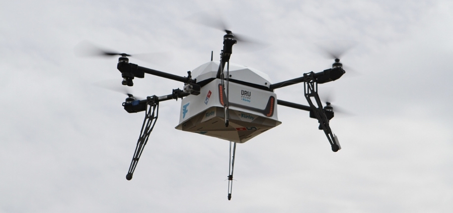 pizza delivery drone in New Zealand