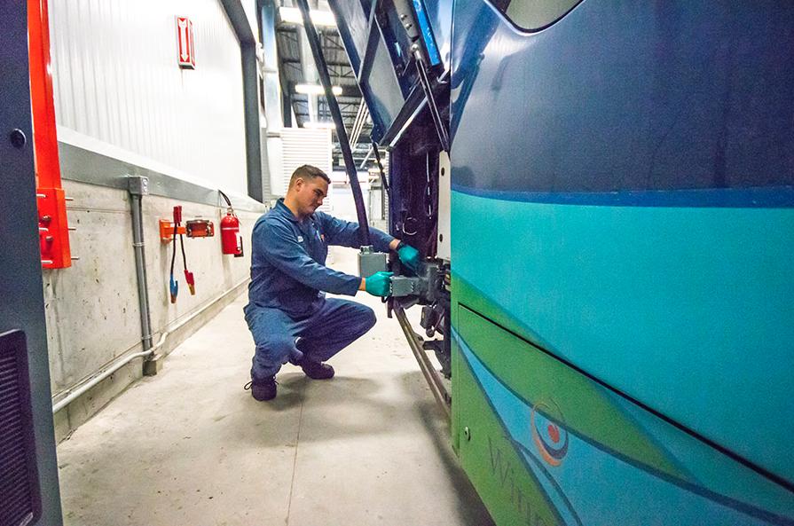 Winnipeg Transit electric bus