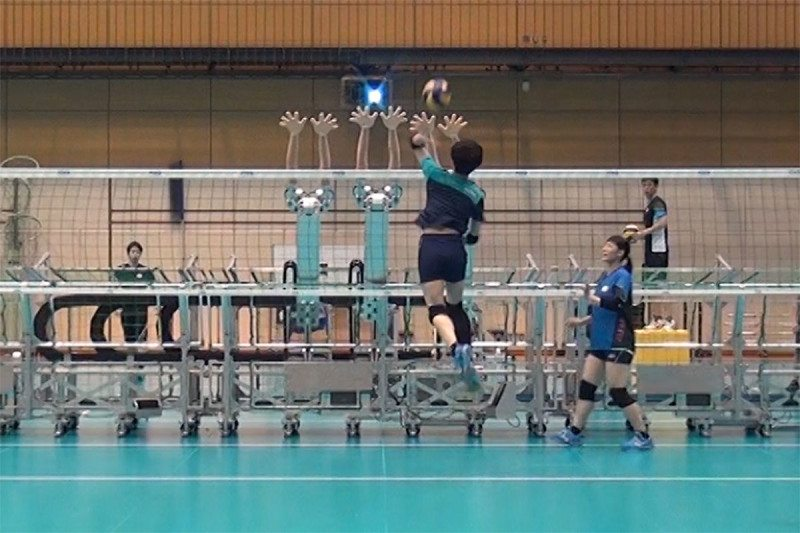 Japanese volleyball robots