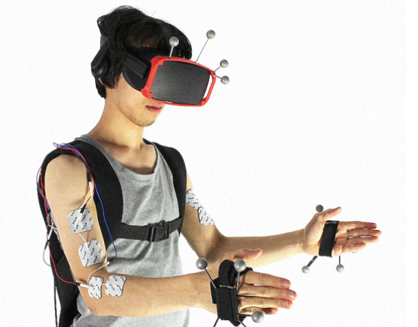 electrodes allow physicality in VR
