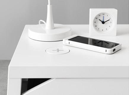 Ikea SELJE wireless charger nightstand