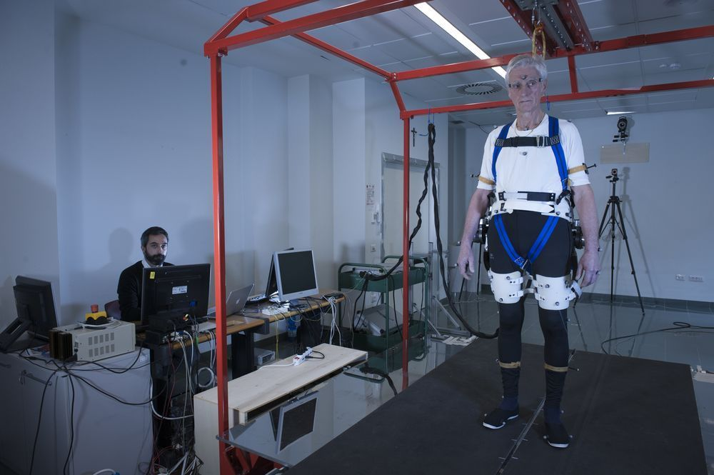 Exoskeleton that keeps older adults from falling