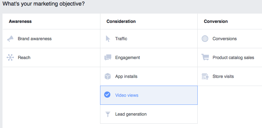 Marketing Objectives in Facebook Ads
