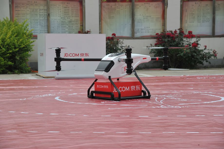 Chinese delivery drone that can carry one-ton load