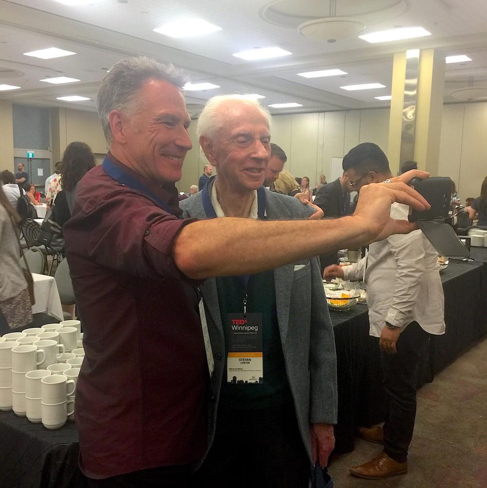 Speaker Joel Carter and his dad