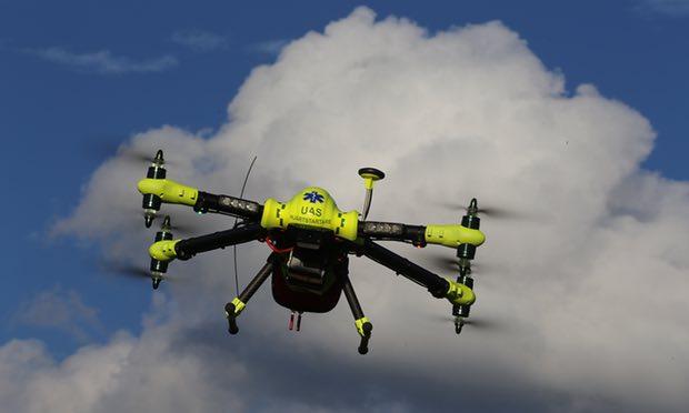 Defibrillator-delivery drone