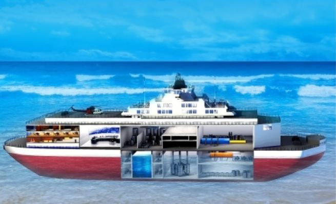 Floating nuclear reactors