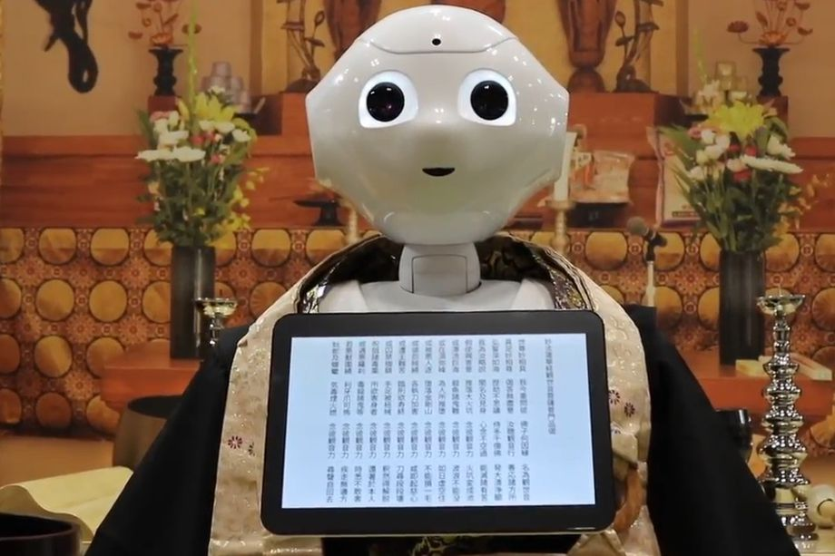 Sutra-chanting robot