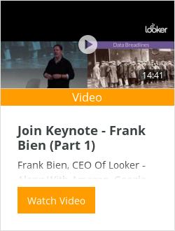 Join Keynote - Frank Bien (Part 1)