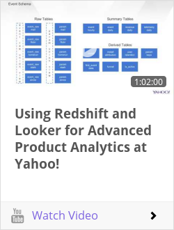 Using Redshift and Looker for Advanced Product Analytics at Yahoo!