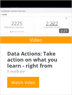 Data Actions: Take action on what you learn - right from Looker