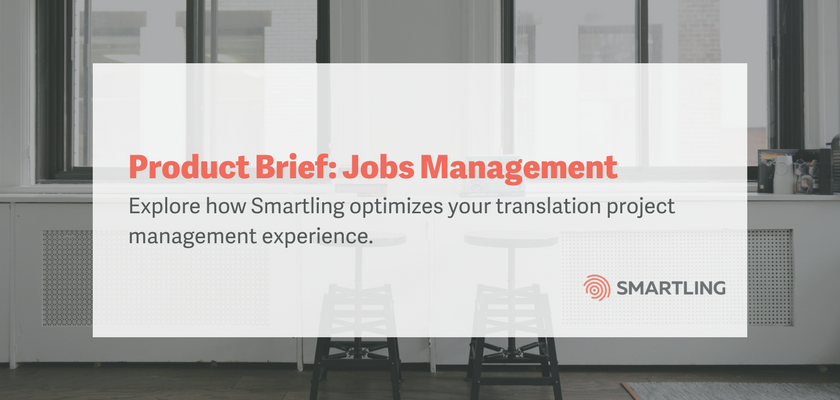 Product Brief: Jobs Management
