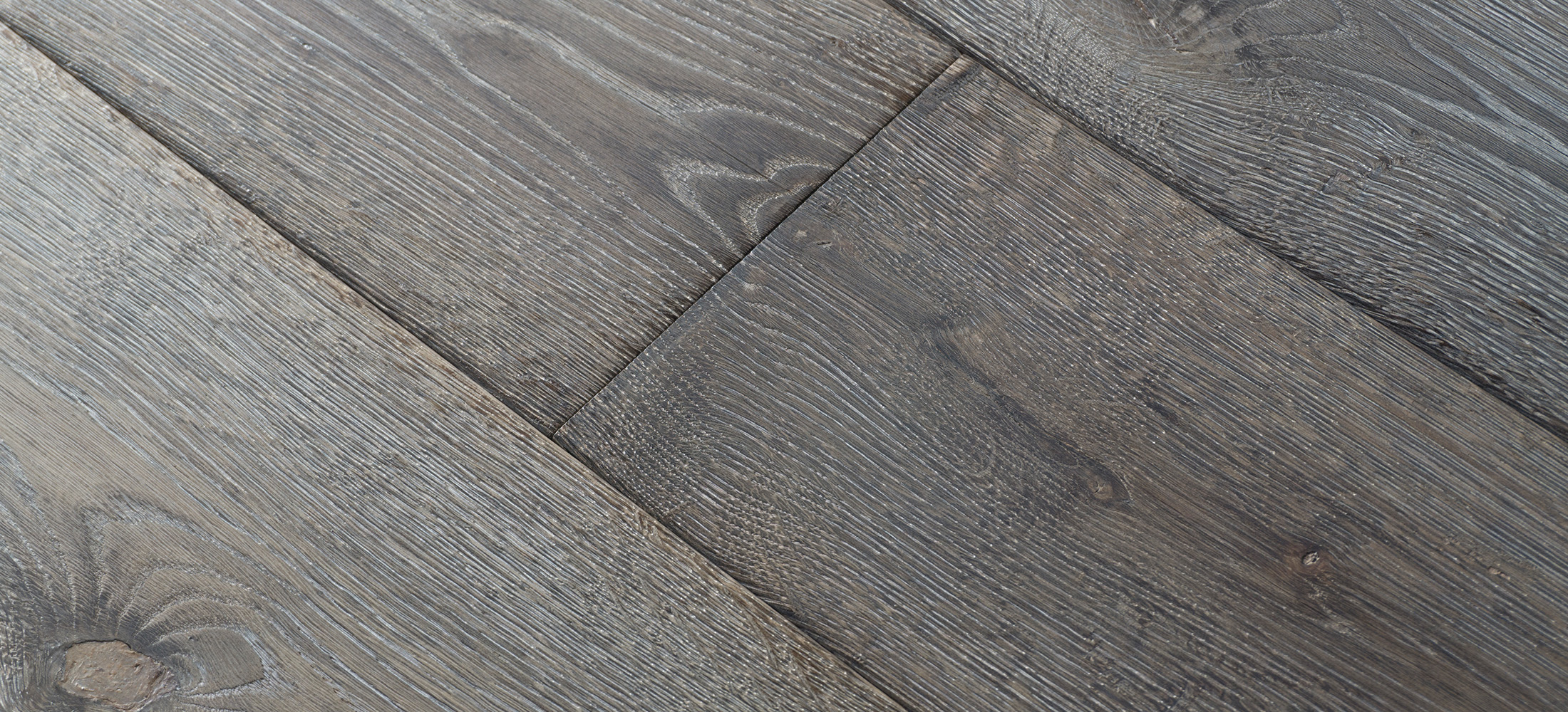 European Oak Brushed Surface Wide Plank Flooring Texture