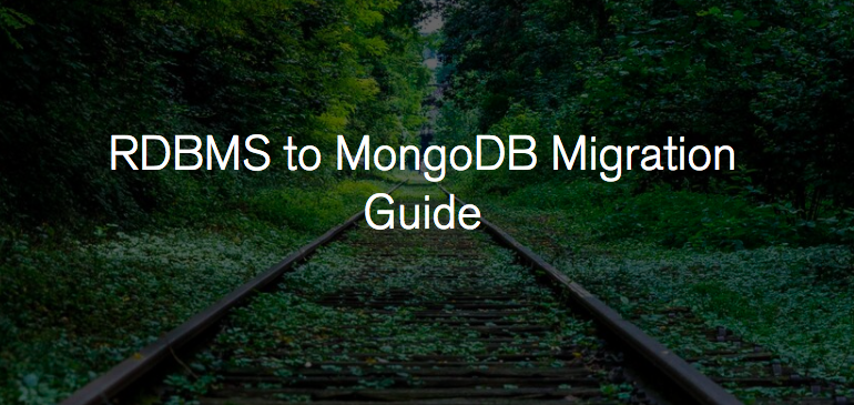 A step-by-step guide on how to migrate from RDBMS to MongoDB
