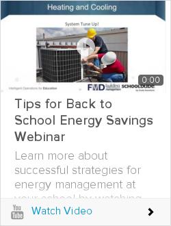 Tips for Back to School Energy Savings Webinar