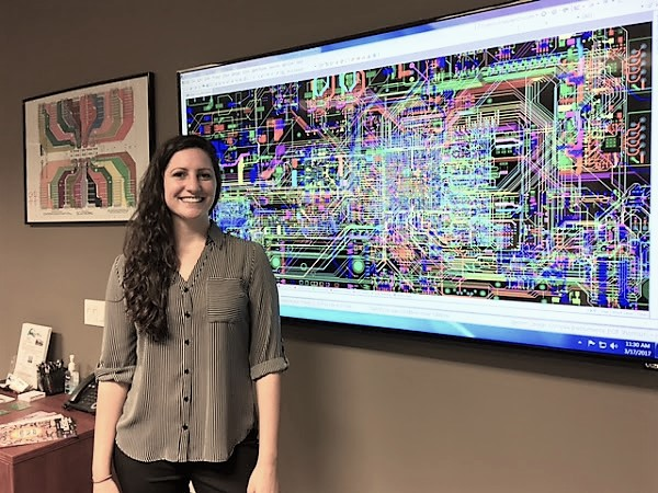 Nicole Pacino and her 16 layer circuit board design