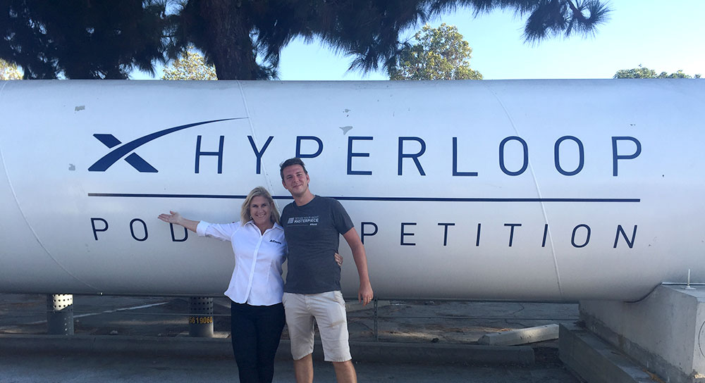Judy Warner at Hyperloop Competition