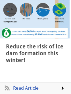 Reduce the risk of ice dam formation this winter!