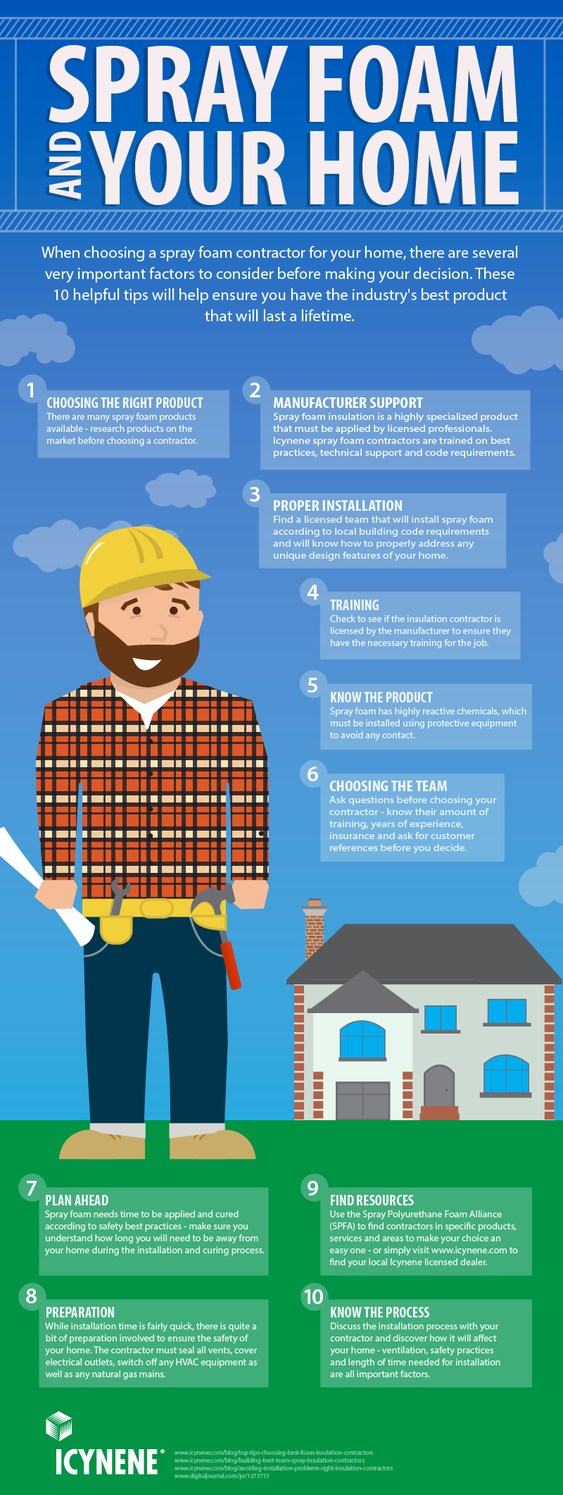 Spray foam and your home