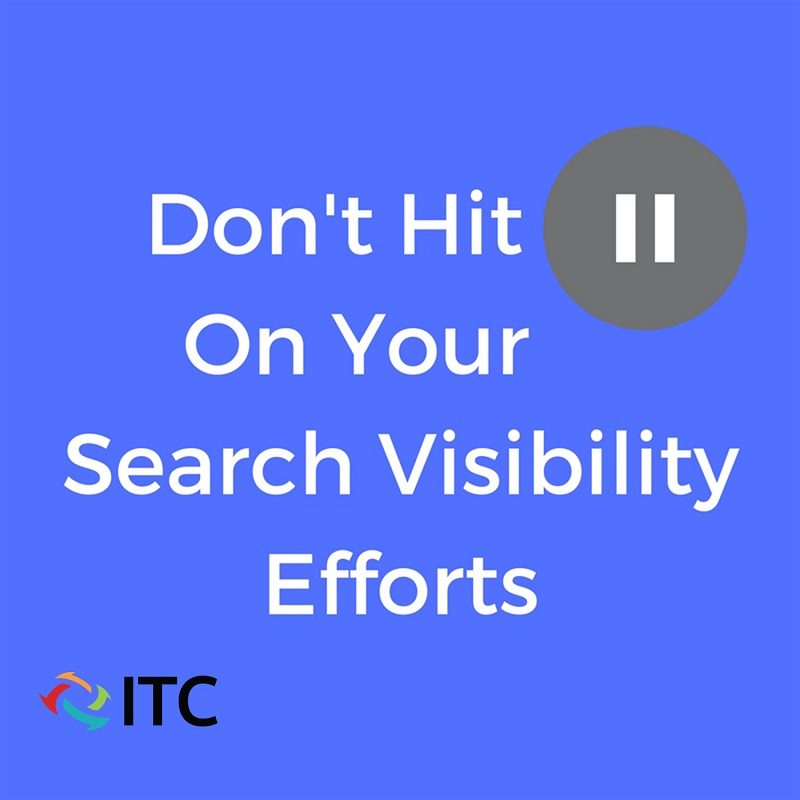 Don't hit pause on your search visibility efforts