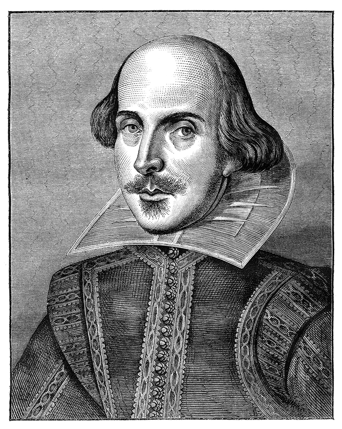 print of shakespeare