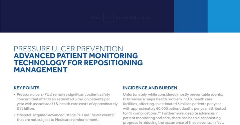 Pressure Ulcer Prevention: Advanced Technology for Repositioning Management