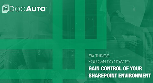 Learn the Six Things You Can Do to Control SharePoint