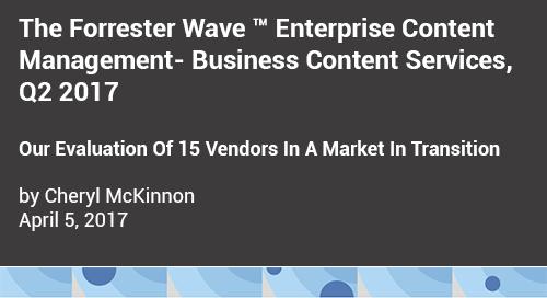 Forrester Wave Report on ECM Vendors