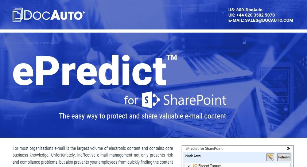 Datasheet: ePredict