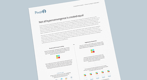 [Infosheet] Not All Hyperconvergence is Created Equal: Erasure Coding Vs. Replication