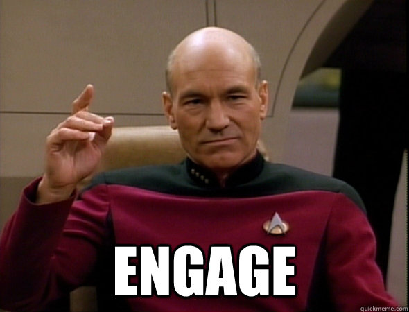 Captain Picard Star Trek Engage Meme