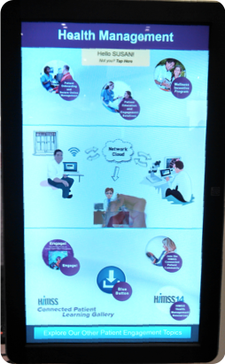 Health Management Kiosk at HIMSS14