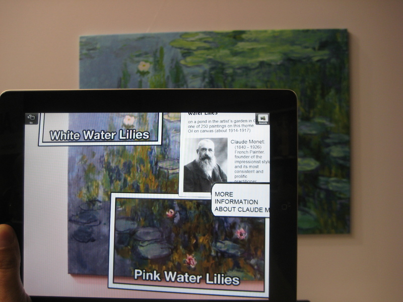 Augmented Reality Over Monet Paintings