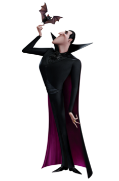 Dracula (Adam Sandler) in HOTEL TRANSYLVANIA, an animated comedy by Sony Pictures Animation.
