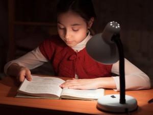 Image of girl doing homework