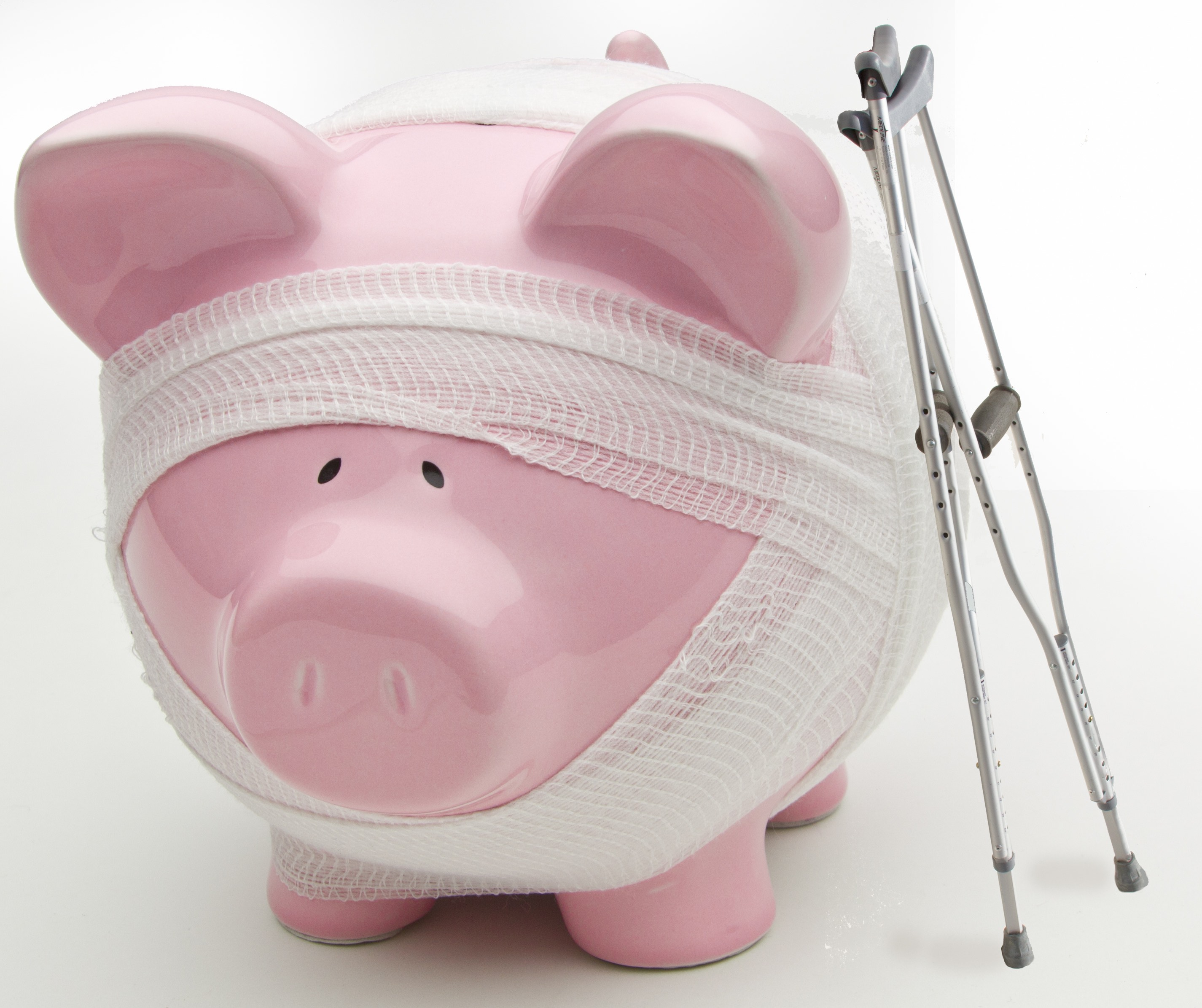 Image of injured piggy bank