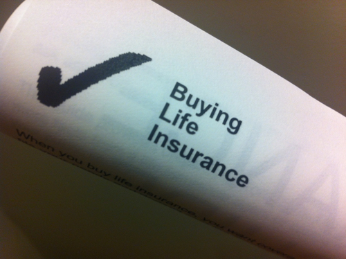 Image of life insurance checkbox