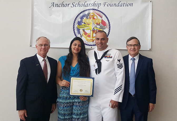 Leidos STEM Scholarship through the Surface Navy's Anchor Scholarship Foundation