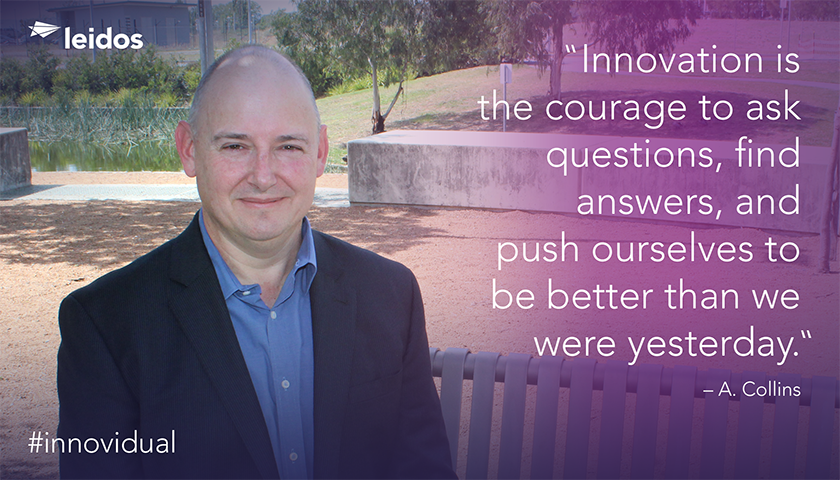 Andrew Collins is Chief Technology Officer for Leidos Australian Tax Office (ATO) Program.