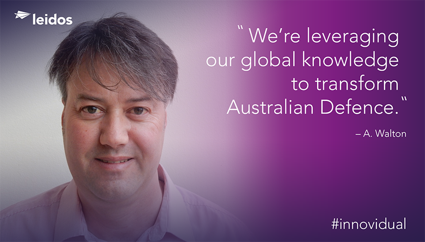Andrew Walton is Chief Architect of Leidos' Centralized Processing Program for the Australian Department of Defence.