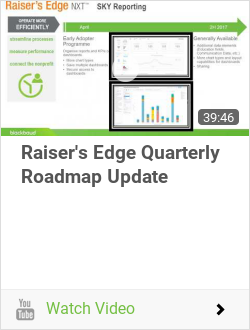 Raiser's Edge Quarterly Roadmap Update