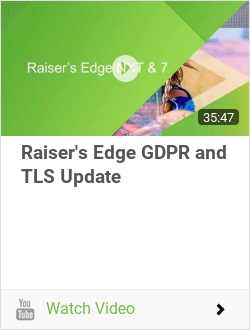 Raiser's Edge GDPR and TLS Update