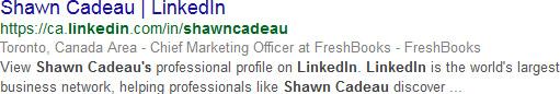 Shawn Cadeau Linkedin