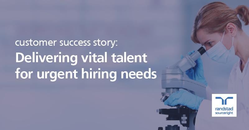 biotherapeutics leader fast tracks talent acquisition to support urgent demand