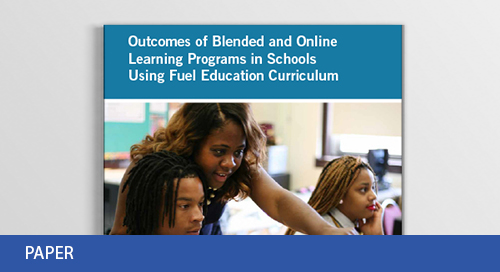 Academic Outcomes of 9 Blended and Online Learning Programs White Paper